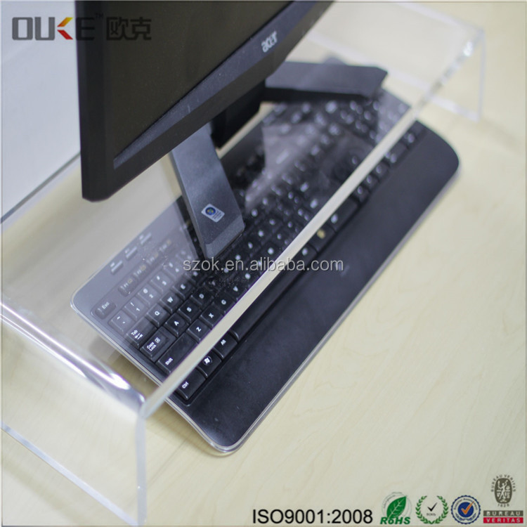 Clear plastic flexible bedside acrylic computer monitor stand