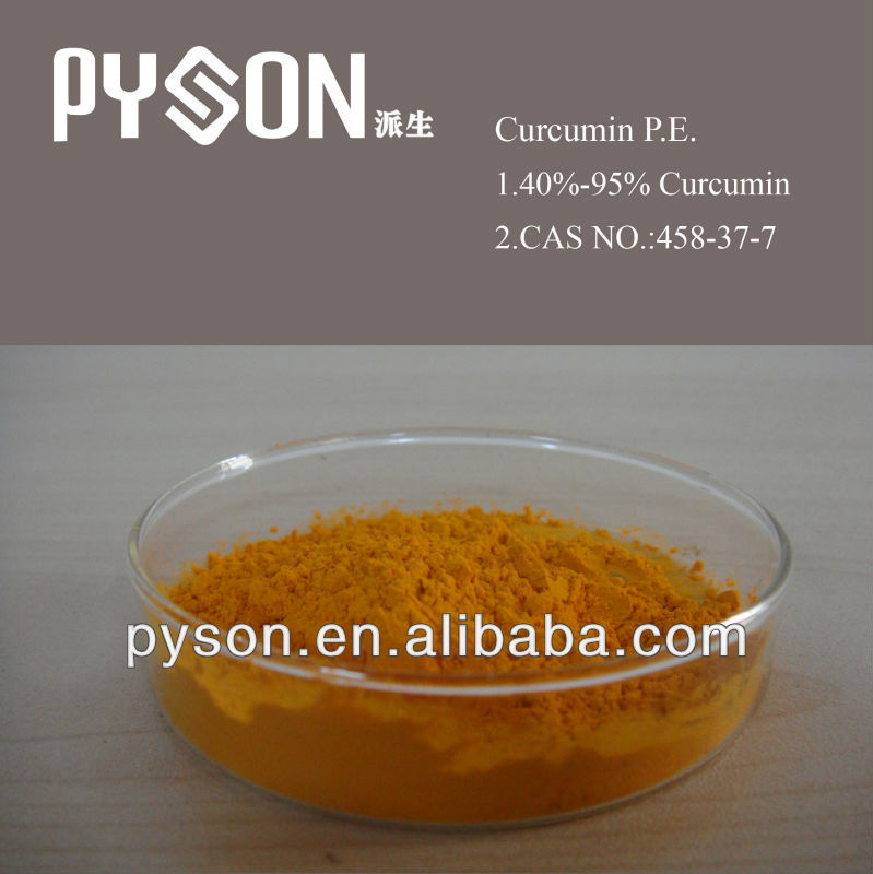 Natural pigment turmeric root extract with curcumin powder