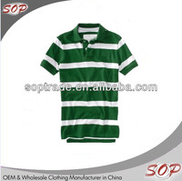 Online shopping China clothes new fashion men striped collar tshirt design