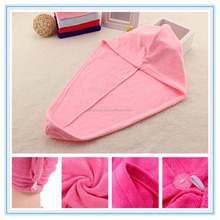 Hot Sale microfiber hair towel for hair salon disposable towel black