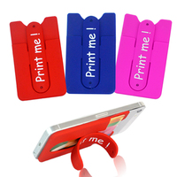 touch u shaped multi functional sticky cell phone silicone stand card holder