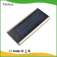 8000mah factory OEM ODM solar charging hiking mobile power back for android smartphone