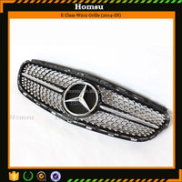 Mercedes E Class Front Bumper Grille W212 Black Grille 2014-In ABS Material Starry Sports