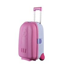 Wholesale retail 18 inch colorful pp material children kids luggage trolley