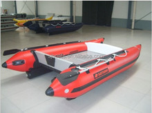 SANJ PVC Hull Inflatable Fast Cat Boat with Yamaha Engine