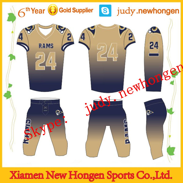 sublimated american football uniforms/ football jerseys