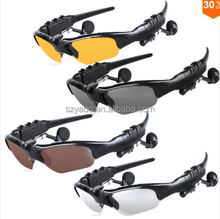 US and EU popular bluetooth polarized lenses sunglasses with mp3 player and earphone