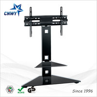 full motion l-shaped stainless steel tv stand for LCD LED plasma TVs