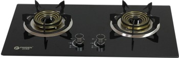 Standard Toughened Glass Double Burner Gas Stove for Home