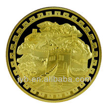 The Great Wall Gold Plated Souvenir Coins