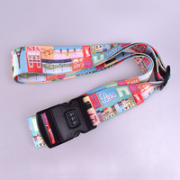 Top Quality Adjustable Luggage Strap,Suitcase Polyester Luggage Belt With Name Tags