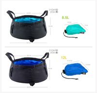 HT003 waterproof camping bags , outdoor ultralight washbowl nylon folding travel water basin 80g