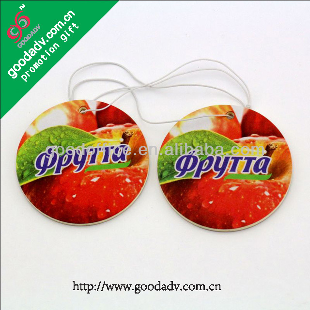 Wholesale custom shape full color printing car air freshener poppy