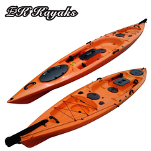 polyethylene plastic foot pedal kayak boat for fishing sale