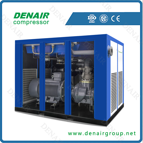 Direct screw air compressor for food industry