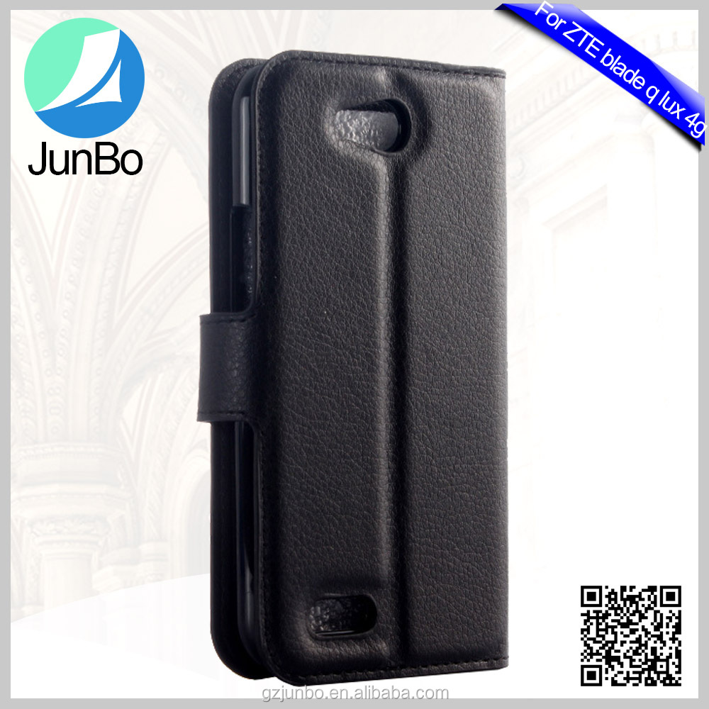 High Quality Wholesale Price Lichee Pattern PU Leather Case for Zte Blade Q Lux 4g