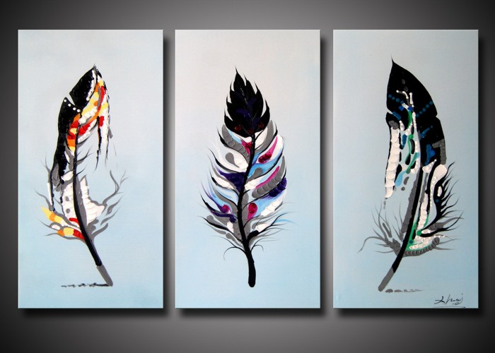 3 panel modern handpaint abstract still life oil painting home wall decoration art