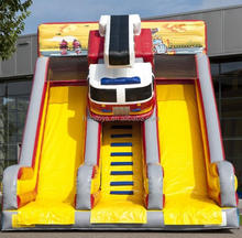 Hola inflatable fire truck slide/inflatable slide/inflatable water slide