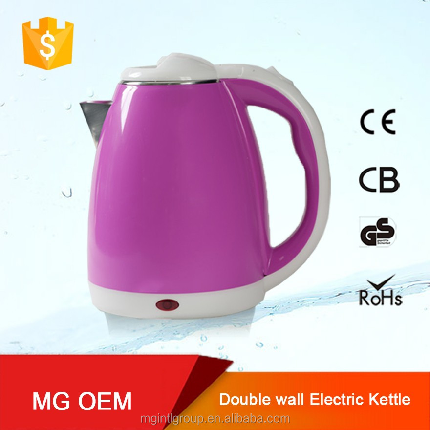 2016 new premium 1.8L Auto switching off plastic double electric tea kettle