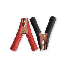 90mm Long Battery Alligator Clips, Black Red 100A Insulated Battery Clip Clamp for Car Auto Vehicle