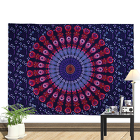 Home Decor Custom Indian Mandala Tapestries, Psychedelic Tapestry Wall Hanging