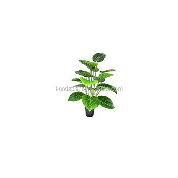 Artificial flower branches plastic leaves wrought iron flowers and leaves