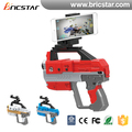 Smartphone APP control 3D virtual intelligent plastic AR bluetooth gun game player with funny shooting