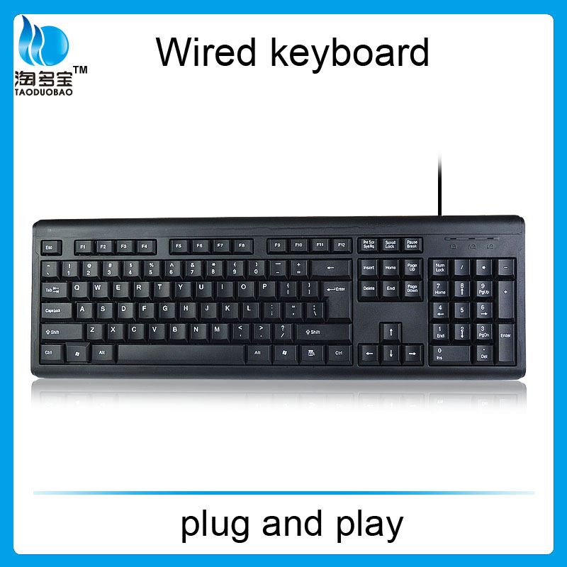 wired keyboard from ISO factory_wholesale waterproof keyboard for office