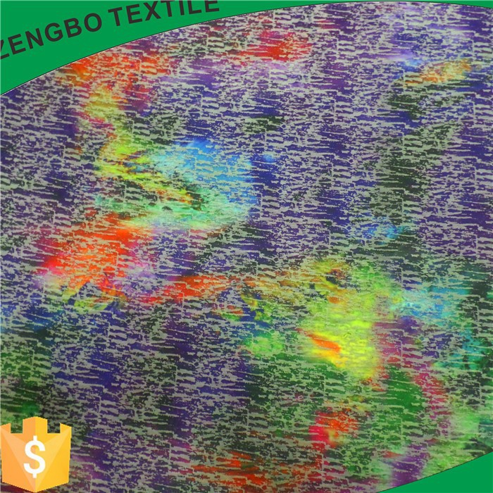 warp knitted digital printing, lady polyester scuba knit fabric