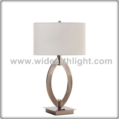 UL CUL Listed Nickel Finish Hardback Shade Bedside Hospitality Lighting T50090