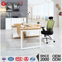 Easy Assembled office executive standard sizes of workstation furniture for small office