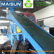 continuous tire recycling machine