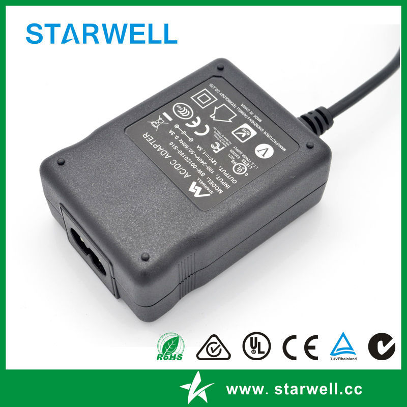 UL CE FCC SAA C-tick CB listed 12V / 24V medical power 12w power supply for medical equipments