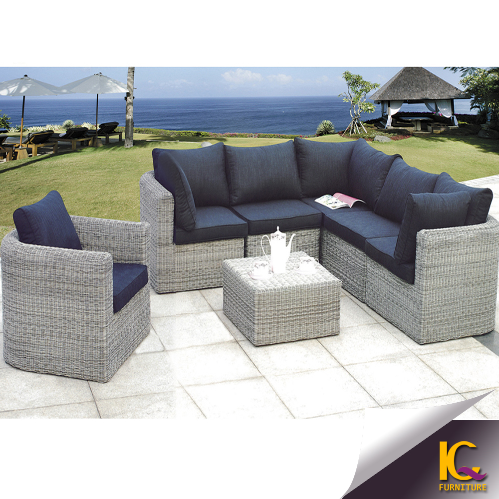 Modern cheap comfortable wicker patio rattan sofa for Comfortable lawn furniture