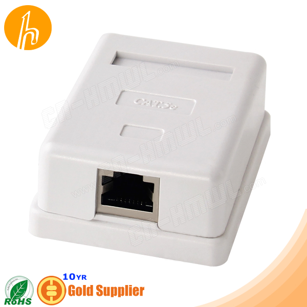Shielded Cat5e RJ45 Socket Jack Box