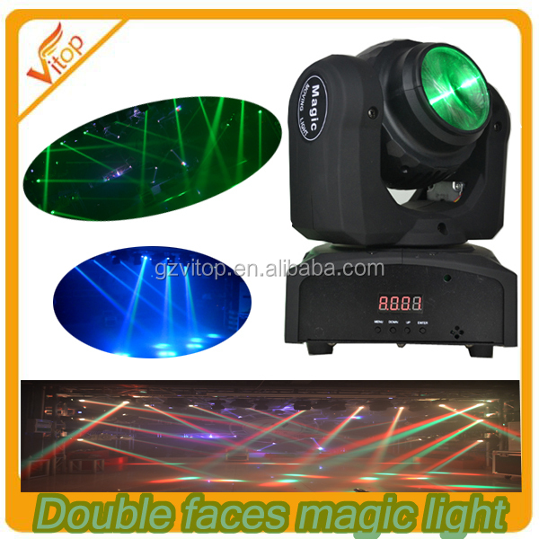 Cool design 2pcs 10watt led beam mini spider two side magic moving head