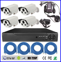 cheap home security camera systems hd 720p ip camera h.264 P2P POE 4ch cctv network dvr kit (BS-NK06)