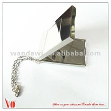 Silver painted alloy hanging chain mirror