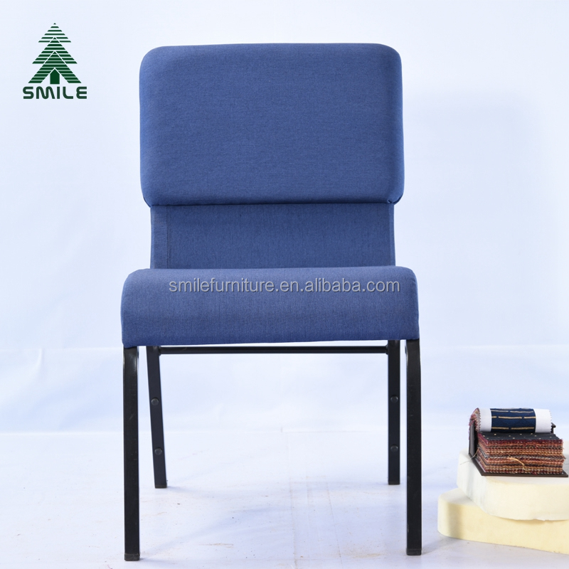 "Modern Stacking Fabric Wing-Back Church Chairs - 18.5""<strong>W</strong> for Sale"