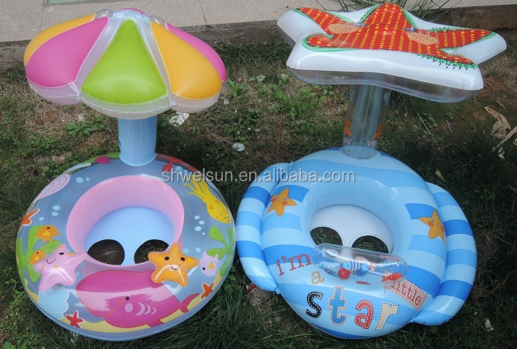new design inflatable pool baby float Goldfish baby & Mom float