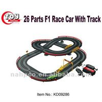 26 Parts F1 Race Car With Track