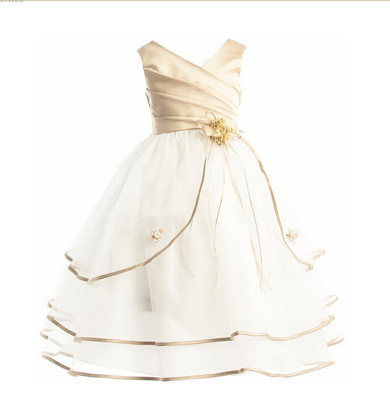 Floral Dress Kid Clothing For Baby Girls Princess Baptism Gown ...