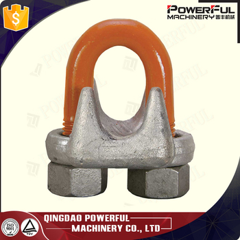 DIN741 electrical galvanized Wire Cable Clamps