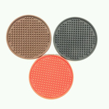 cute shape silicone cup mat/silicone cup coaster for family