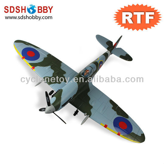 900mm Spitfire 900mm V2 Brushless EPO/Foam Electric Airplane RTF with 2.4G Radio, 11.1V 1250mAh 15C Li-Po Battery and Charger
