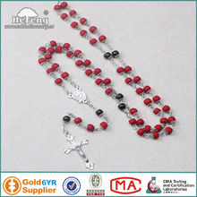 double capped red wood perfumed rosary