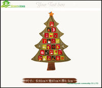 China fashion handmade wholesale decoration christmas tree gift crafts custom linen christmas adven calendar TF09