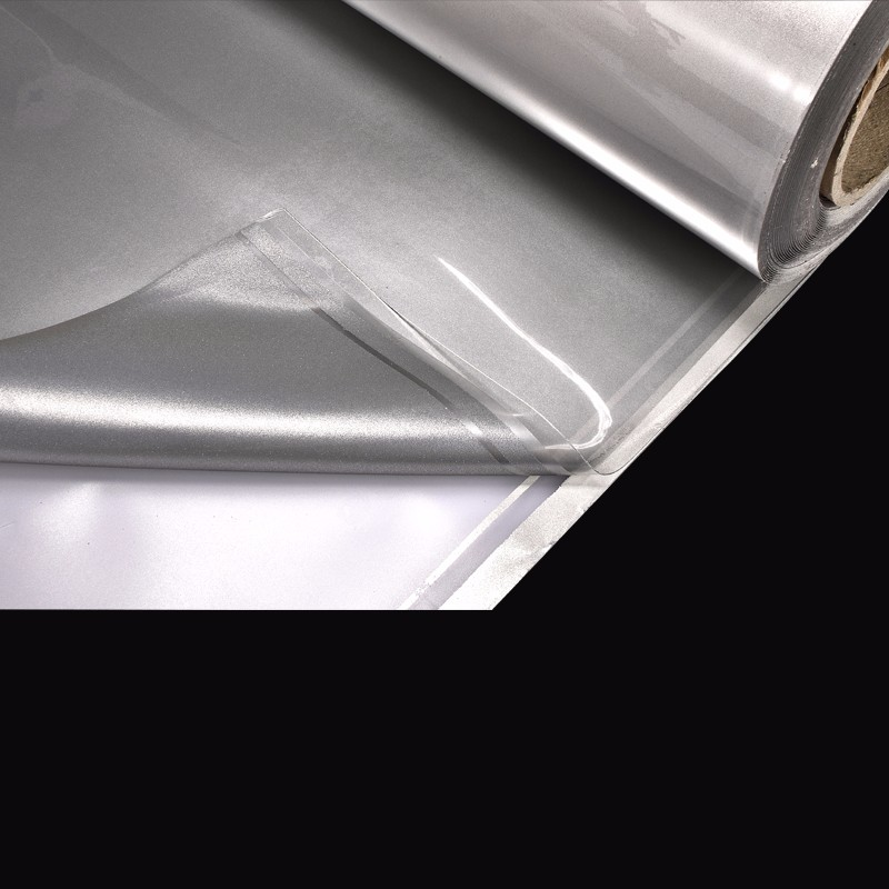 silver gray stretch heat transfer reflective vinyl film
