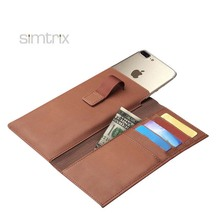 Soft leather multifunction customized mobile phone case with smart puller for Iphone 6/6S/7