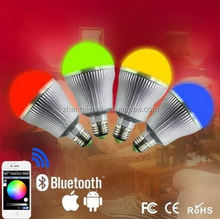 Hot Sale Led Lighting FUT102 Mushroom lamp E27,2.4g RF wireless RGBW Led light bulb